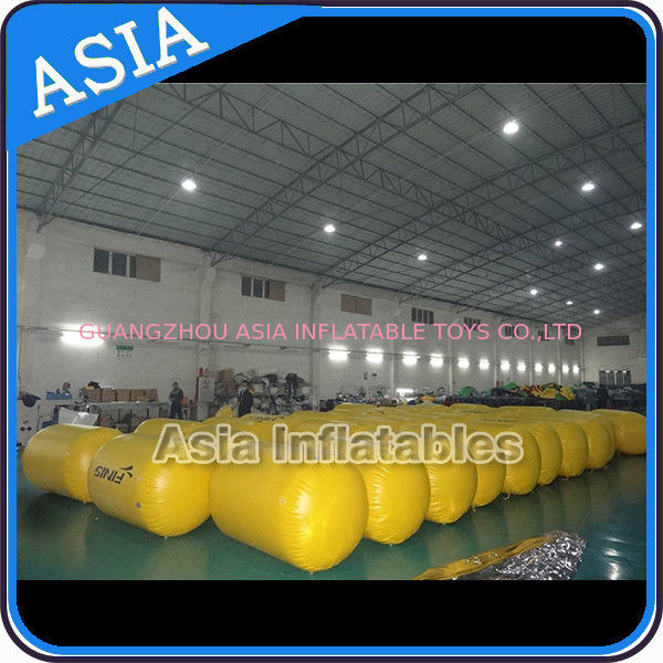 Inflatable Buoys , Cylinder Shape For Water Triathlons Advertising pemasok