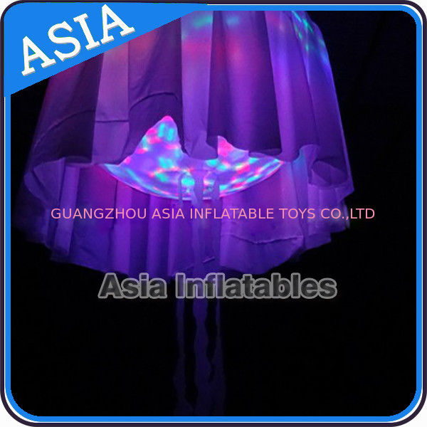 LED Light Helium Balloon Mega Inflatable Jellyfish Halloween , Shining Night Ball pemasok